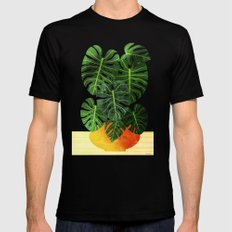 Swiss Cheese Plant Mens Fitted Tee Black MEDIUM