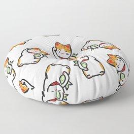 Lucky Cat Pattern Floor Pillow