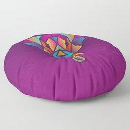 Elephant | Geometric Colorful Low Poly Animal Set Floor Pillow