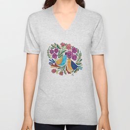 Birds & flore Unisex V-Neck