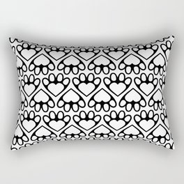 Paw Prints on my Heart - in White Rectangular Pillow