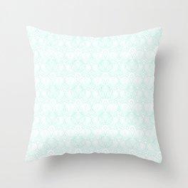 Miami Beach Motel- Mint Throw Pillow