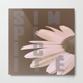Daisy SIMPLICITÉ Metal Print
