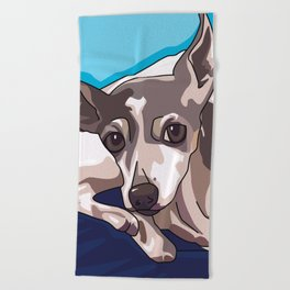 Jasmine Dog Beach Towel