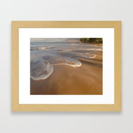 Gentle Waves on Beach Framed Art Print