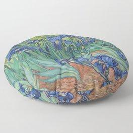 Irises by Vincent van Gogh Floor Pillow