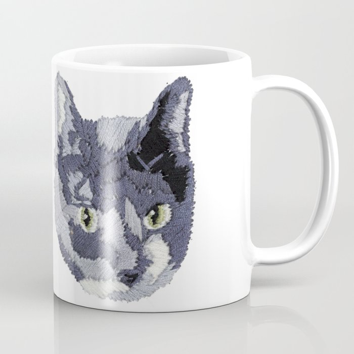 Cat Embroidery Coffee Mug