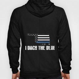 Oklahoma Police Appreciation Thin Blue Line I Back The Blue 2 Hoody