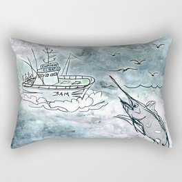 Fishing swordfish Rectangular Pillow