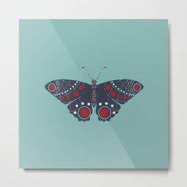 Modern Butterfly Metal Print