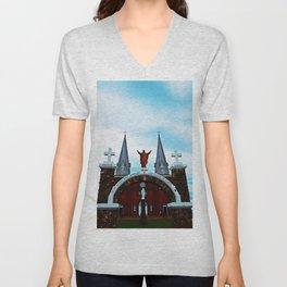 Church and Archway Unisex V-Neck