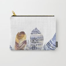 Watercolor bohemian feathers Carry-All Pouch