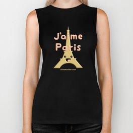 J'aime Paris Cute Eiffel Tower Biker Tank