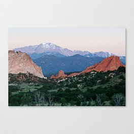 Sunrise at Garden of the Gods and Pikes Peak Canvas Print