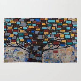 :: Stained Glass Tree :: Rug