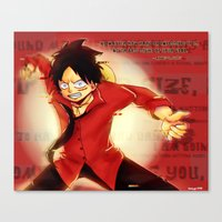 luffy Canvas Prints featuring Luffy  by kimiyo