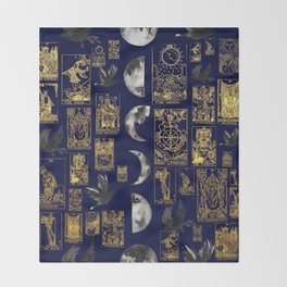 beautiful pagan themed tarot print Throw Blanket