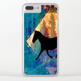 Horse Abstract Clear iPhone Case