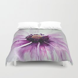 Sweet Anemone of Purple watercolor by CheyAnne Sexton Duvet Cover