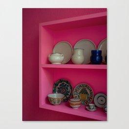 A Pink Shelfie Canvas Print