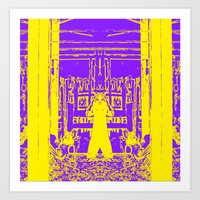Demon in purple/yellow Art Print