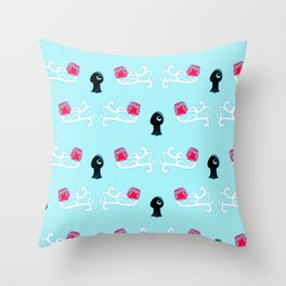 Squid in Love with the Jellyfish - Pattern Throw Pillow