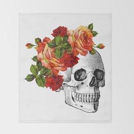 Dia De Los Muertos Sugar Skull Throw Blanket
