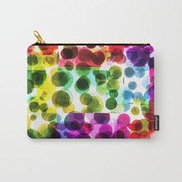 Kaleidoscopic Rainbow Polka Dots Carry-All Pouch
