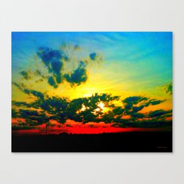 Curdled Clouds Canvas Print