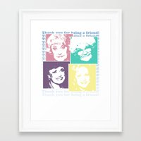 golden girls Framed Art Prints featuring The Golden Girls by gamunev