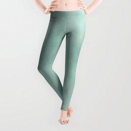 Modern abstract mint green artsy watercolor Leggings