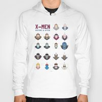 x men Hoodies featuring X-MEN BEFORE & AFTER by Berkay Daglar