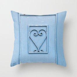 The Blue Heart Throw Pillow