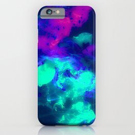 Glowing Grapes - Fruity Ink Fluid iPhone Case