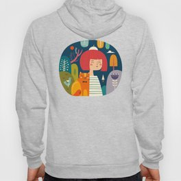 Girl with Cat Hoody