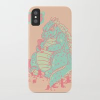 godzilla iPhone & iPod Cases featuring Godzilla by Tapioles II