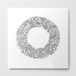Floral Type - Letter O Metal Print