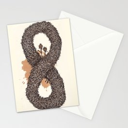 fur infinity Stationery Cards