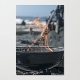Beach Grilling Canvas Print