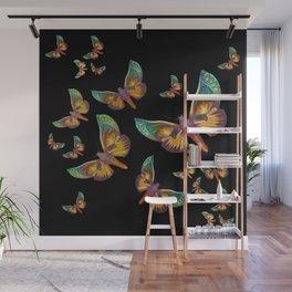 """Fantasy multicolored butterflies II"" Wall Mural"