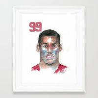 49ers Framed Art Prints featuring Aldon Smith-49ers by Anthonylanza