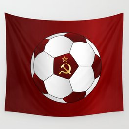 Russian Flag Icons Football Wall Tapestry