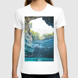 Sea Cave in Greece T-shirt
