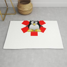 Linux Tux Emergency Rug