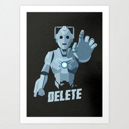 Nightmare in Silver (Cyberman) Art Print