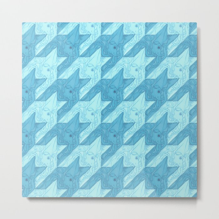 squid houndstooth Metal Print