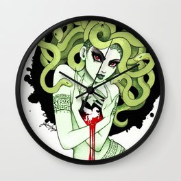 Medusa in Vignette Wall Clock
