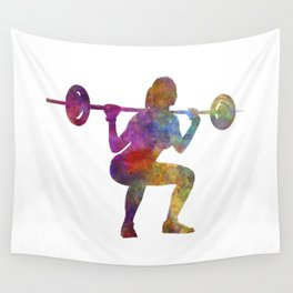 Body buiding woman isolated Wall Tapestry