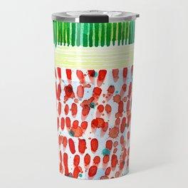 Joyful Stacked Patterns in High Format Travel Mug