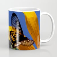 transparent Mugs featuring Transparent Butterfly by Donuts